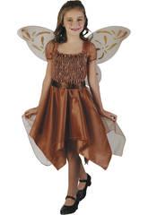 Maschera Farfalla Bambina Marrone Taglia M