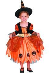 Disfraz Bruja Calabaza Bebé Talla S