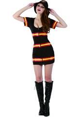 Kostüm Feuerwehrfrau Frau Größe L