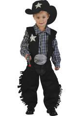 Costume Cowboy Nero Bebè S