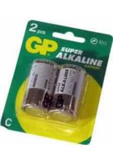 Blister 2 piles R14/C Alcalines G.P