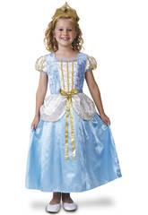 Costume Bimba M Principessa Azzurro elegante