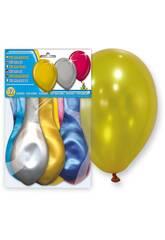 Sachet de 12 ballons gonflables métallisés