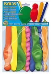 20 bunte Luftballons Globolandia 5104
