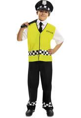 Disfraz Bebé L Policía Con Chaleco