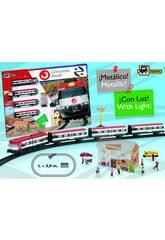Tren Cercanias Metálico con Luz y Estación