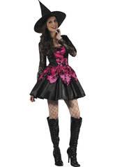 Disfraz Bruja Rosa Mujer Talla L