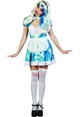 Kostüm Blutbeschmiertes Hausmädchen Frau Größe XL