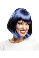 Peluca Corta Azul