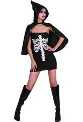 Kostüm Skelett Frau Größe L