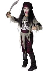 Disfraz Pirata Fantasma Niño Talla XL