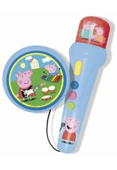 Peppa Pig Microfono con Amplificador y Ritmos