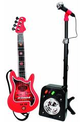 Ensemble Flash Micro, Bafle et Guitare 4 Cordes