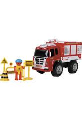 Camion Pompiers 37 cm. avec Accessoires