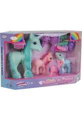 Famille Ponys 4 unités avec Accessoires