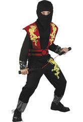 Costume Drago Ninja Rosso Bimbo XL