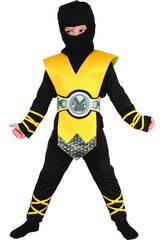 Kostüm Ninja Gelb Baby Größe S