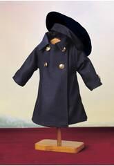 Manteau Bleu avec béret