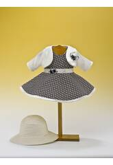Robe Losanges Bleue Marine avec chapeau
