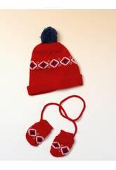 Red Hat und Handschuhe Set
