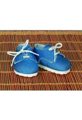 Blauer Segeltuch Schuh