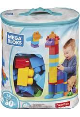 Mega Bloks Tüte Blau 80 Teile MattDCH63