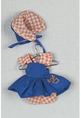 Mini Vestito Blu Cuffia