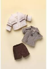Mini Pantaloni marroni Jersey Beige Mariquita Perez MJP25011