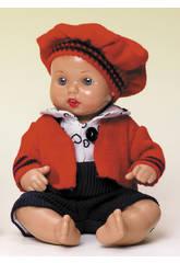 Mini Juanin Pérez Bebè pantalone blu e giacchetta rossa