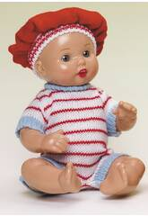 Mini Juanin Baby rot gestreifte Strickwaren