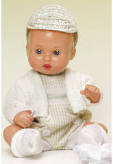 Mini Juanin Baby Vichy Beige Strampler mit Mütze