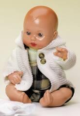 Mini Juanin Baby Latzhose Braun und Abrigo Punt