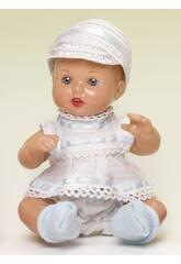 Mini Juanin Baby Weiß und Blau mit Mütze