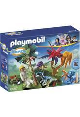 Playmobil Isla Perdida con Alien y Raptor