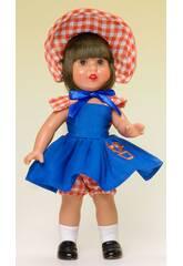 Mini Mariquita Pérez Blaues Kleid Kapuze