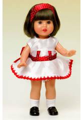 Mini Mariquita Pérez Toile de Shantu Blanc et rouge