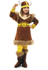 Disfraz Niña XL Vikinga del Norte