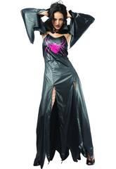 Fantasia Aranha Gótica Negra Mulher Tamanho XL
