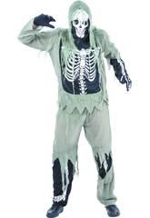 Disfraz Esqueleto Zombi Hombre Talla XL