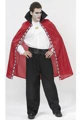 Déguisement Vampire Cape Rouge homme Taille XL