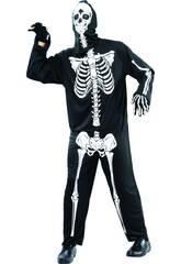Disfraz Esqueleto Terrorífico de Hombre Talla XL