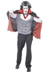 Disfraz Vampiro Con Capa Hombre Talla XL