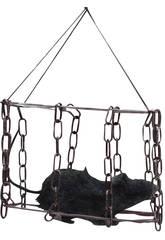 Rata peluda con jaula