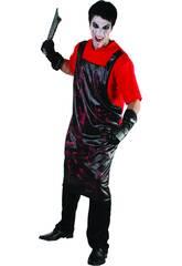 Kostüm blutige Metzger T-Shirt Mann L