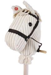 Peluche Cabeça de Cavalo Com Bastão e Som 100 Cm