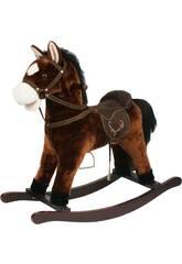 Cavallo a Dondolo Marrone Con Suoni