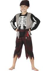 Disfraz Pirata Esqueleto Niño Talla XL