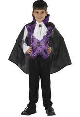 Disfraz Vampiro Lila Niño Talla M