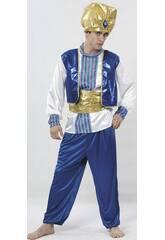 Déguisement sultan bleu homme taille XL