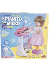Musikinstrument Klavier mit rosa Bank 3 Jahre